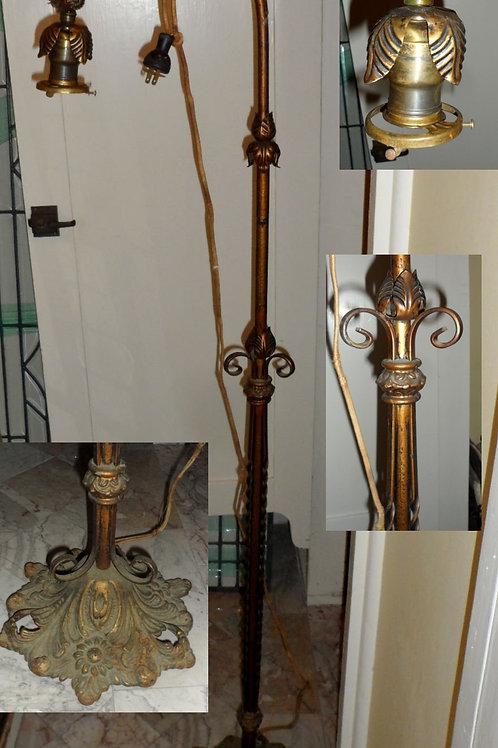 1920s-30s Iron Bridge Floor Lamp