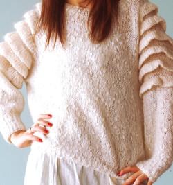 White Sweater Closeup