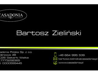 Projekt wizytówki dla Casadonia Polska