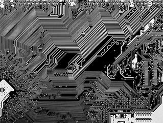 Grafika z technologią w tle