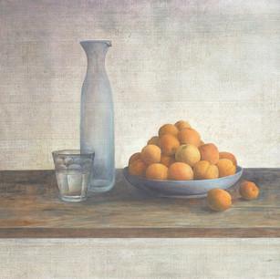 杏子と硝子の静物 apricot and carafe
