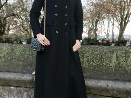 FASHION STYLE : BLACK COAT , BLACK FRIDAY MOOD