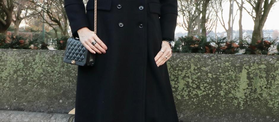 FASHION STYLE : BLACK COAT , BLACK FRIDAY MOOD