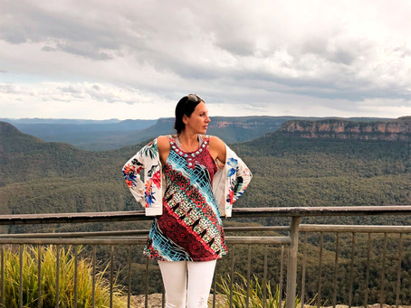 FASHION LIFESTYLE: SYDNEY  BLUE MOUNTAINS : OUTFIT OF THE DAY; PRINTED LOOK!
