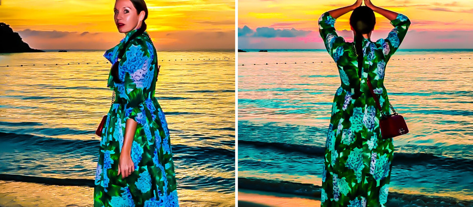 LOOK : TRAVEL FASHION : DRESS FLORAL