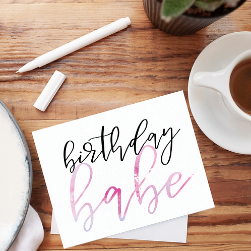 Birthday Babe Notecard
