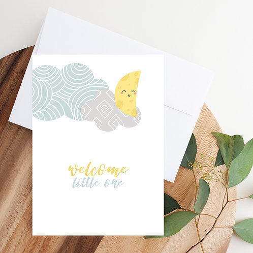 Welcome Little One (boy) Notecard