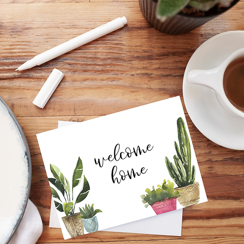 Welcome Home Notecard