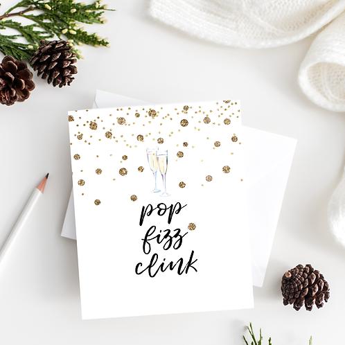 Pop Fizz Clink Notecard