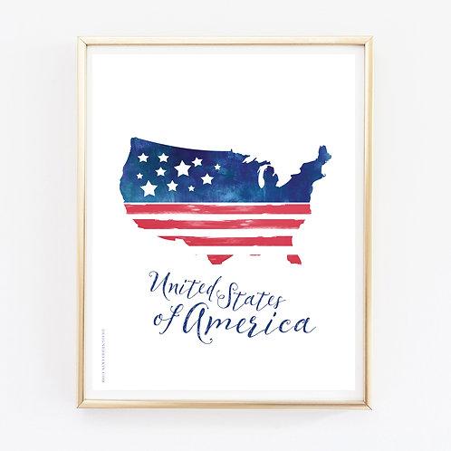 United States of America Print