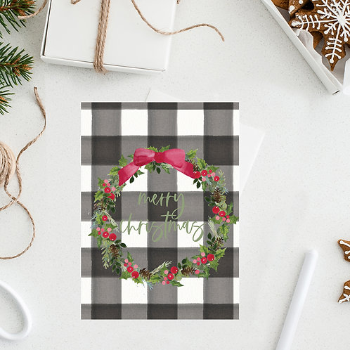 Merry Christmas Wreath Notecard
