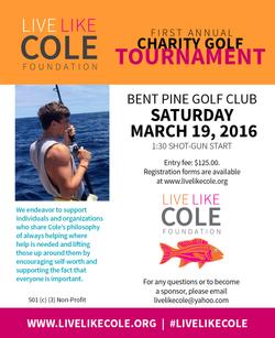 Live Like Cole Fundraiser Ad