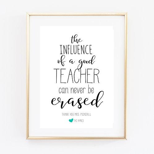 Influence of a Teacher