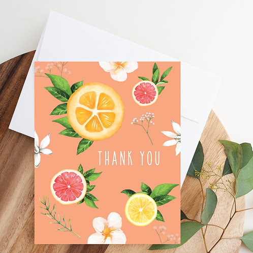 Citrus Thank You Notecard