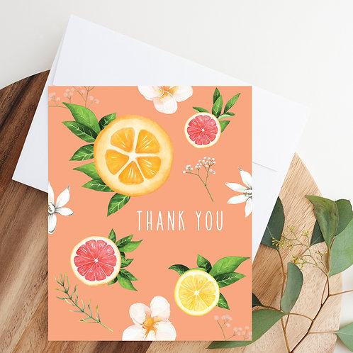 Citrus Thank You Notecard
