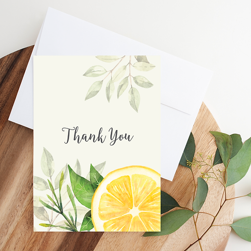 Citrus Thank You Card