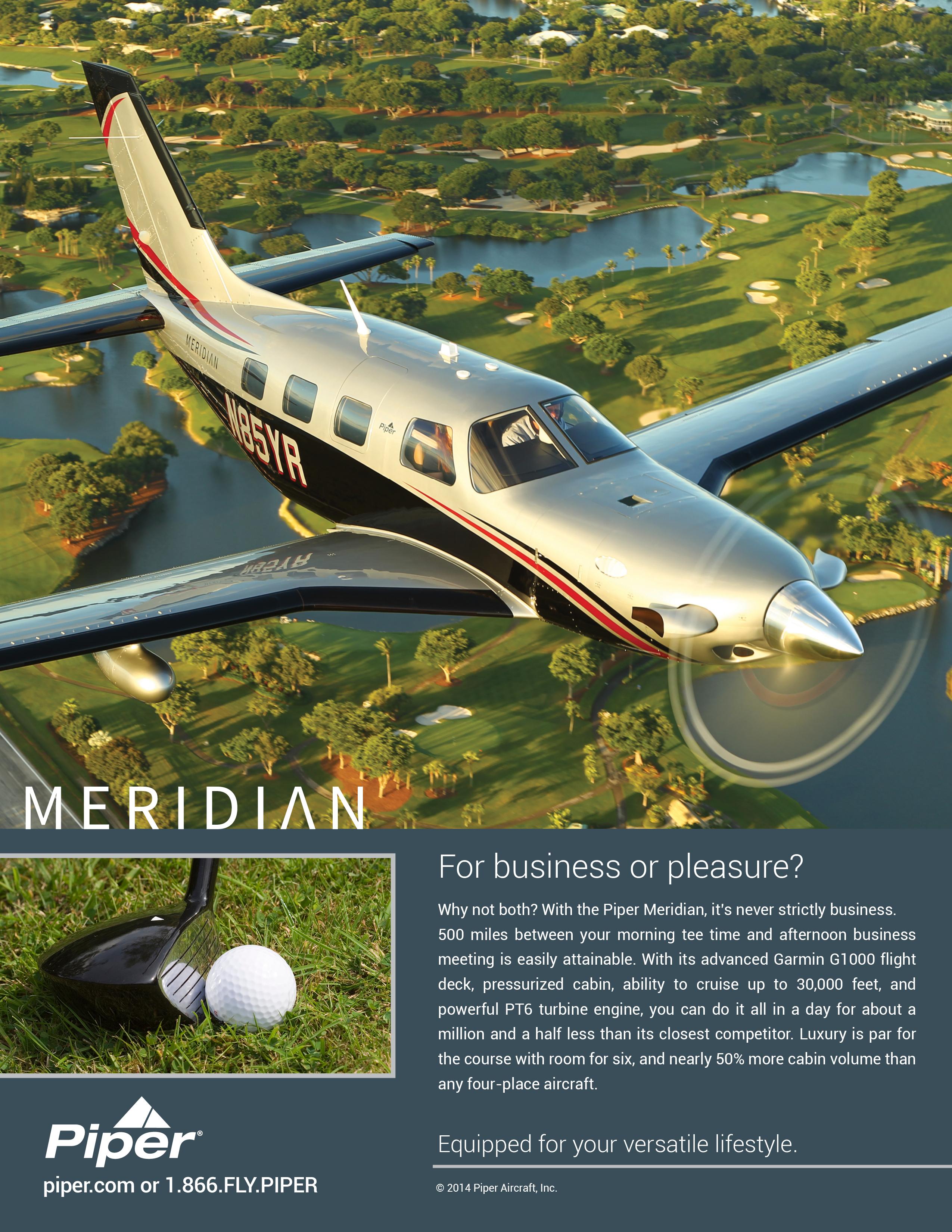 2014 Piper Meridian Ad
