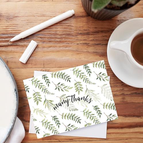 Many Thanks Notecard