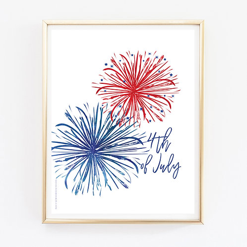 4th of July Print