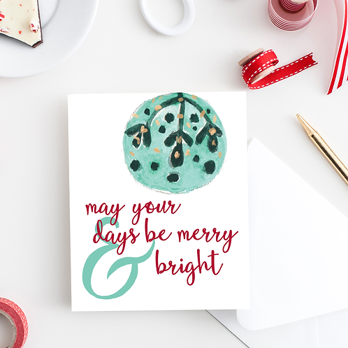 Days be Merry & Bright Notecard