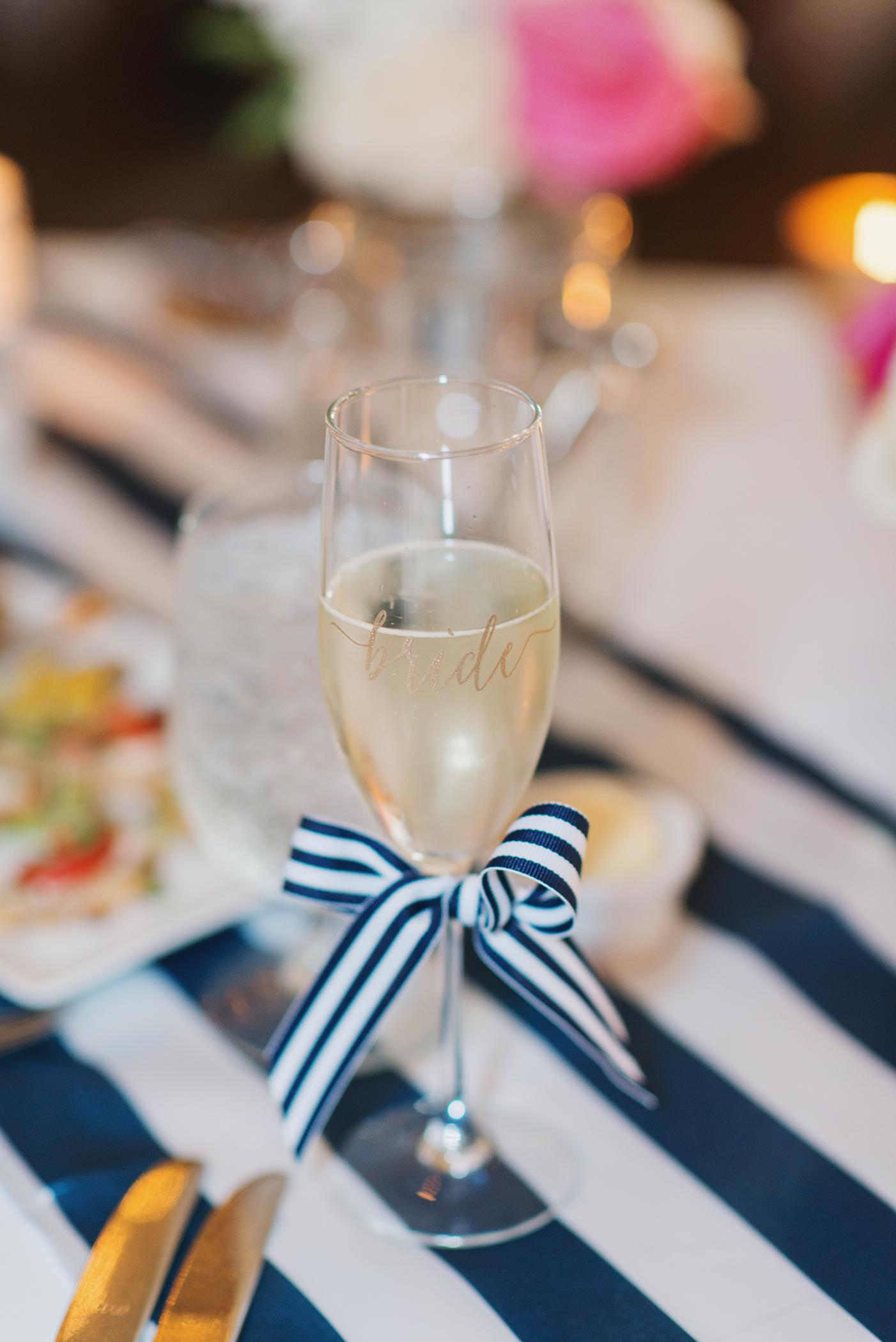 Bride Champagne Glass