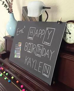 Kaylen Science Birthday