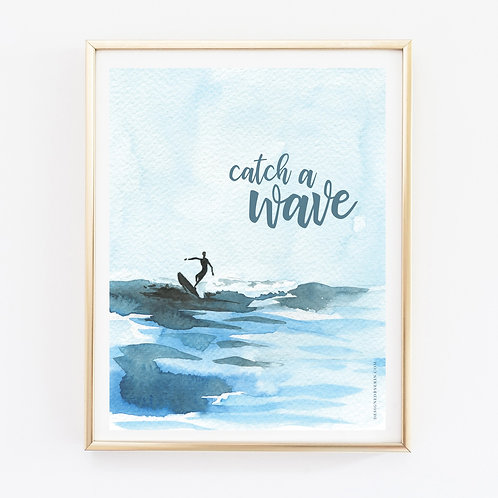 Catch A Wave Print