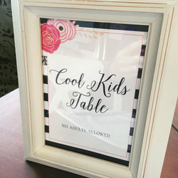 Cool Kids Table Sign