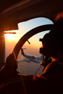 Air-to-air in the early morning