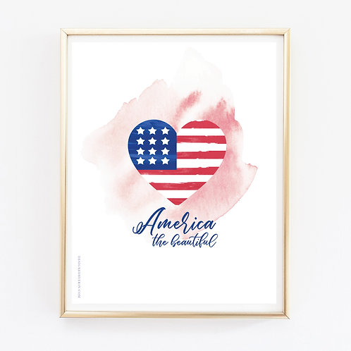 America The Beautiful Print