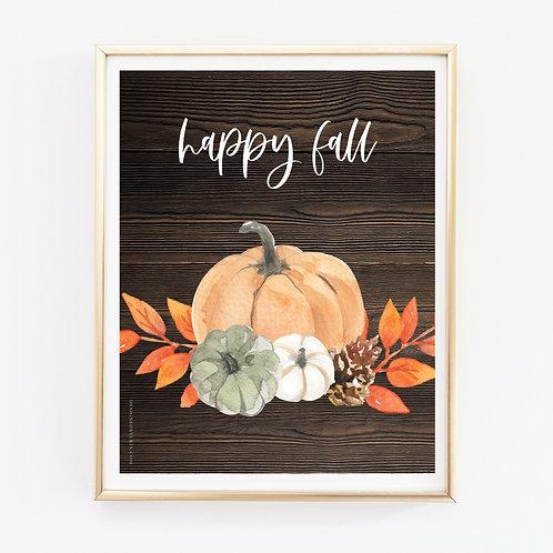 Happy Fall 2 Print