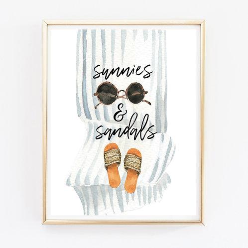 Sandals & Sunnies Print