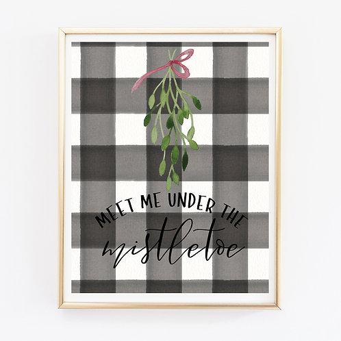 Under The Mistletoe Print