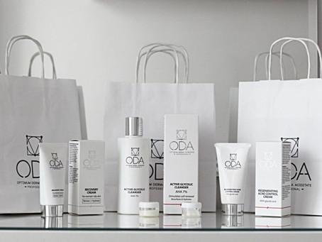 Rekomenduojame ir prekiaujame profesionalia ODA  kosmetika