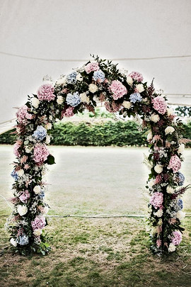 Wedding Flower Arch - can be decorated with flowers in your choice colours