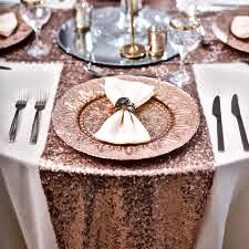 Rose Gold Wedding Table