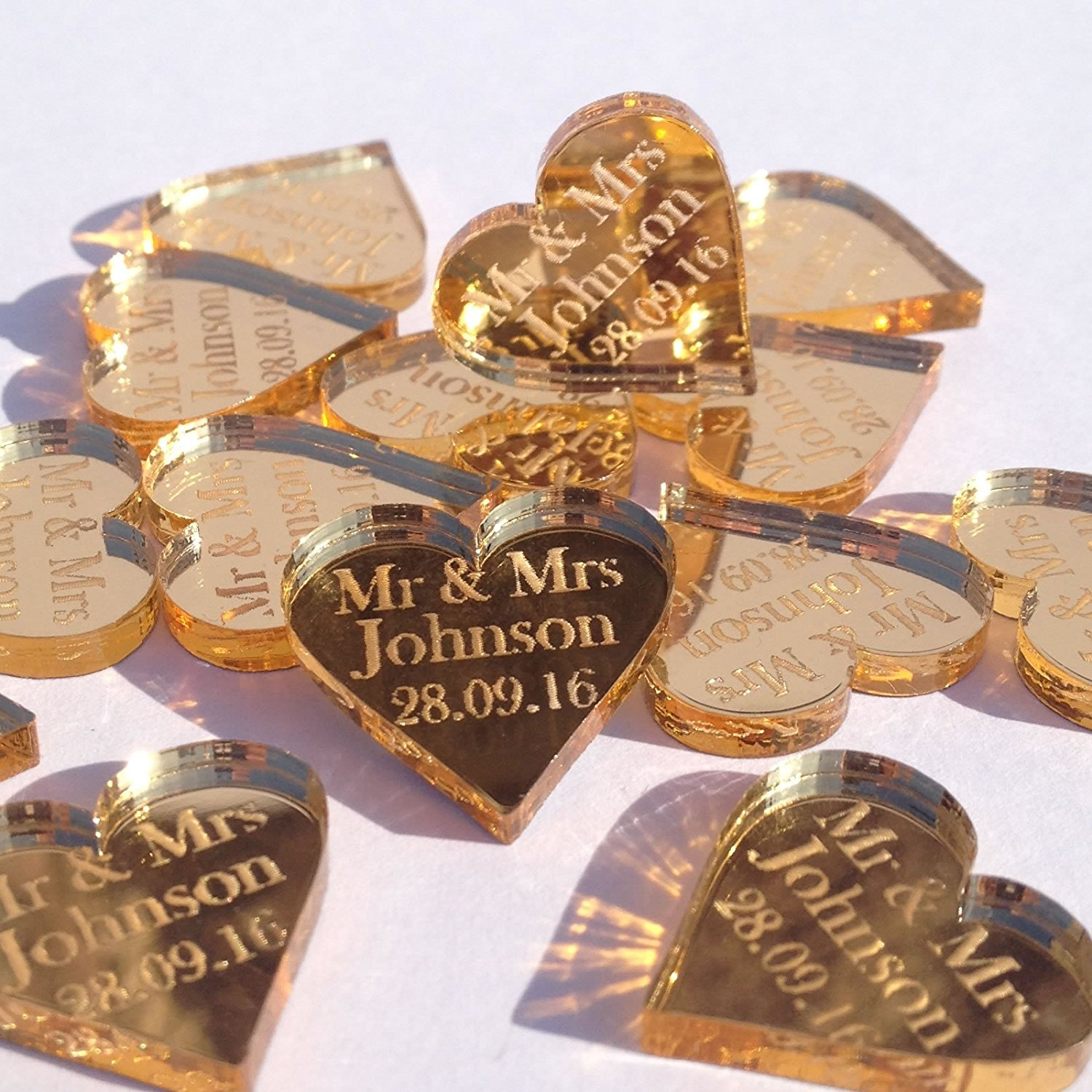Wedding Gold Hearts