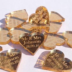 Wedding Gold Hearts