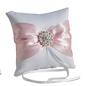 Silk Bow Gem Wedding Ring Cushion