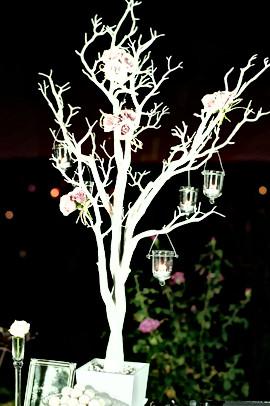 Manzanita Tree with Rose Decor