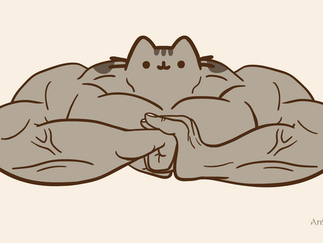 Pusheen: But With Muscles