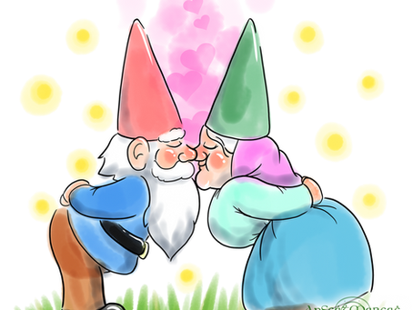 Kissing Gnomes T-Shirt Design