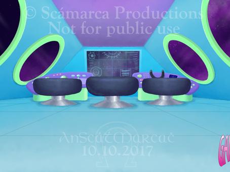 Galacticats Spaceship Interior - Background Art