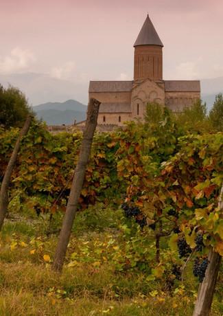 Alaverdi klosteret og vin fra Georgien