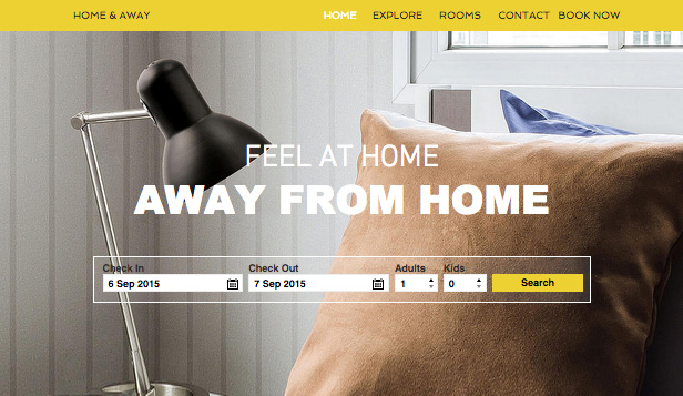 Apartments & Hostels website templates – City Apartment Rental
