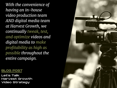 Let's Talk Harvest Growth Video Strategy!