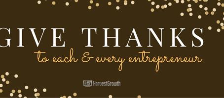 Thank You, Entrepreneurs.