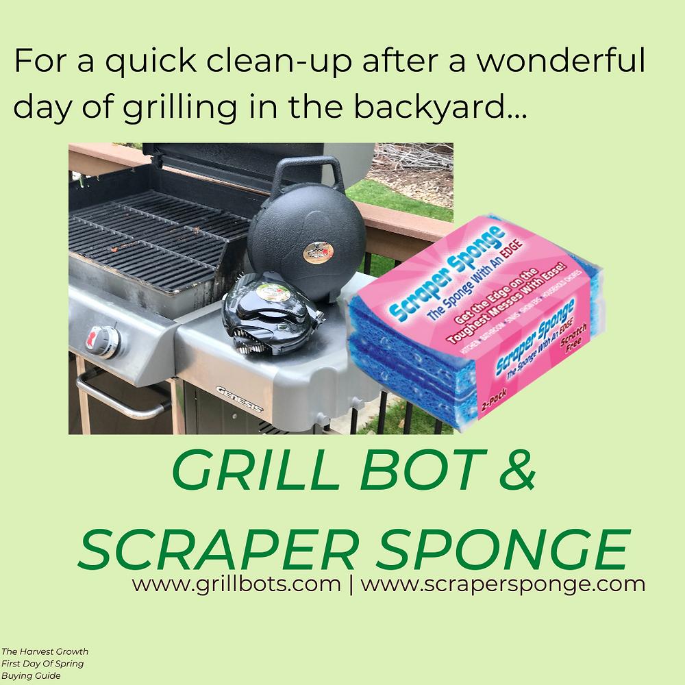 grillbot scraper sponge
