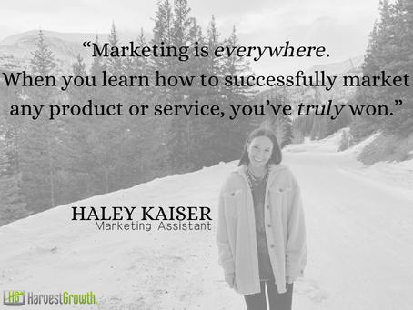 Meet Team HG: Haley Kaiser – Marketing Assistant