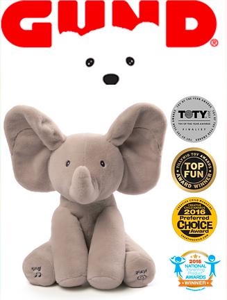 gund peekaboo puppy, elephant plush toy, gund, plush toys, stuffed animal, tv marketing, infomercials, direct response marketing